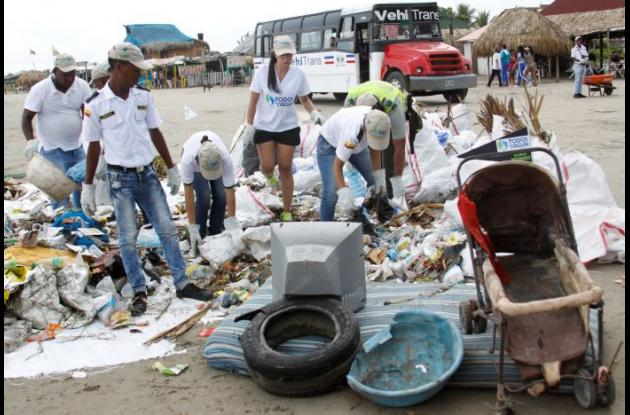 basuras en playas