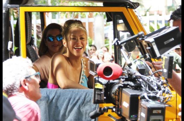 Shakira ha sido elogiada por sus movimientos en el video.