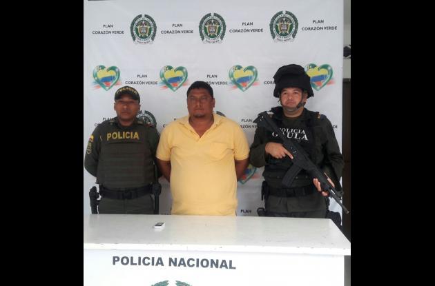"""Javier Enrique Pérez Vidal, alias """"El Lobo"""", capturado en Zona Sur de Sincelejo."""
