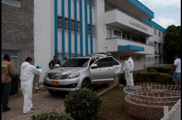 El transportador Dagoberto Hurtado fue baleado dentro de su camioneta en el sector La Plazuela. En esta misma lo llevaron a la Clínica Madre Bernarda, pero llegó muerto.