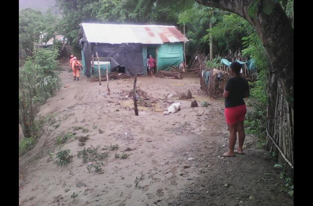 Así luce San Cayetano luego de las fuertes lluvias.