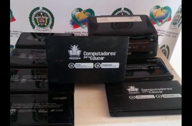 Los ordenadores y la impresora del programa Computadores para Educar, serán devueltos a la directiva del plantel afectado.