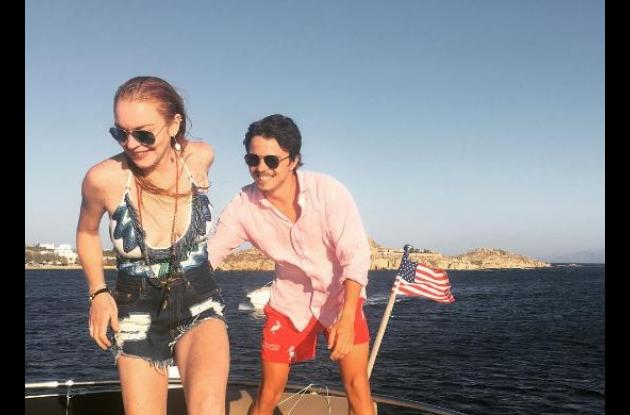 Lindsay Lohan y Egor Tarabasov.