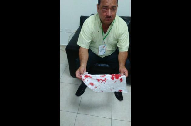 José Martín Arrieta, coordinador golpeado.
