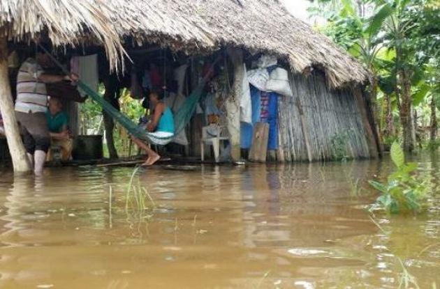 La margen izquierda de San Pelayo está inundada.