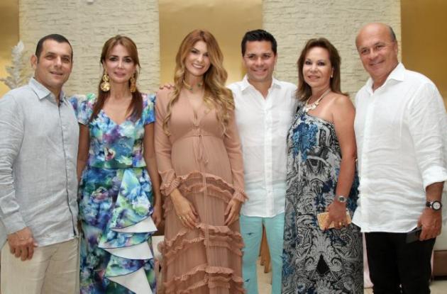 José Miguel Char, Katty Tinoco, Siad Char, Luis Carlos Vélez, Techy de Vélez y Carlos Antonio Vélez.