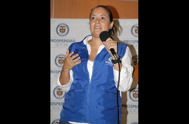 Tatyana Orozco, directora de Prosperidad Social en su reciente visita a Sucre.