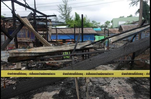 Sitio donde se presentó una de las explosiones.