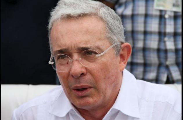 Älvaro Uribe, senador y expresidente de Colombia.