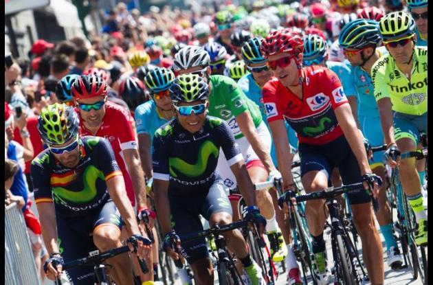 Nairo Quintana estuvo en el liderato poco tiempo, pero se espera que en esta etapa lo vuelva a recuperar.