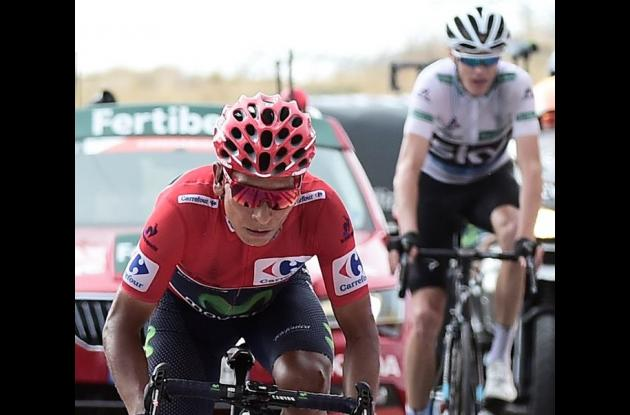 Nairo Quintana y Christopher Froome.