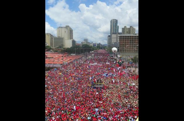 Manifestación en apoyo a Nicolás Maduro.