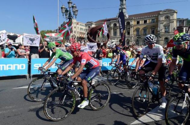 Pelotón de la Vuelta a España.