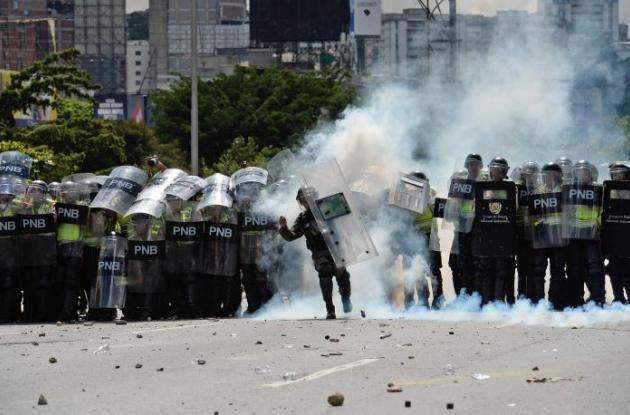 Protesta de opositores de Maduro, en Caracas.