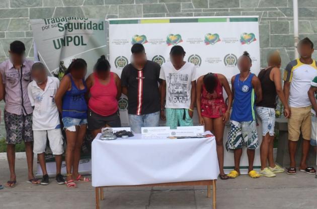 Policía captura a 14 presuntos jíbaros en Ceballos, Cartagena.