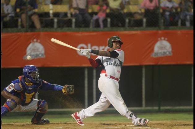 Meibrys Viloria, recio bateador de Indios.