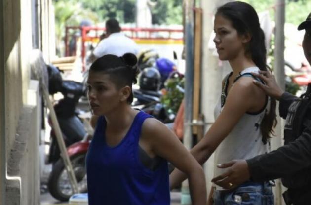 Lina González Rodríguez y Masiel Alejandra González Páez. Aseguradas por secuestro del juez Benny Osorio en Cartagena.