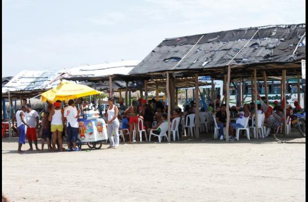 La pareja disfrutaba del amor en las playas de la Boquilla.