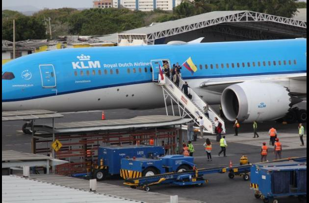 Vuelo inaugural cartagena - Amsterdam KLM