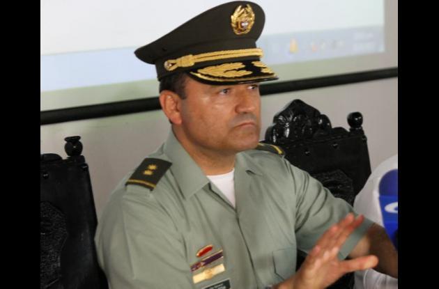 General Luis Poveda, comandante Policía Metropolitana de Cartagena.