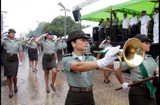 -Bandas de paz de las diferentes instituciones educativas estuvieron presentes.