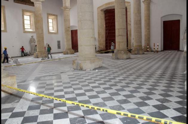 Obras de restauración de la Catedral Santa Catalina de Alejandría
