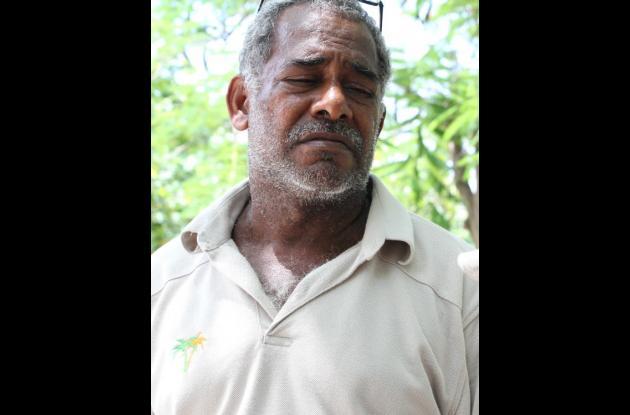 Jaime Martínez, padre de Kelvis Martínez Caraballo, quien fue asesinado a balazos en Olaya Herrera.