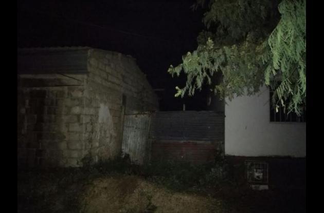 En este sector, Las Parcelas, de Arjona terminó la persecución de la Policía contra los presuntos delincuentes.