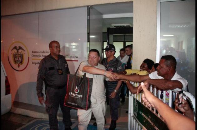 Manuel Vicente Duque, alcalde suspendido de Cartagena, quien es procesado por corrupción.