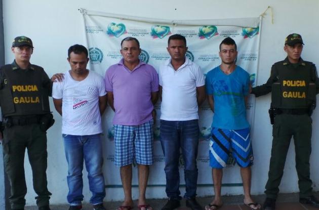 Siete presuntos miembros del Clan del Golfo capturados por el Gaula en Magangué porque extorsionarían a comerciantes.