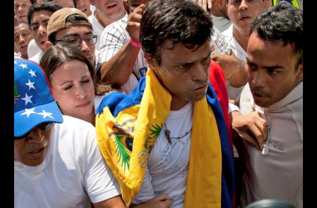 Leopoldo López, líder opositor.