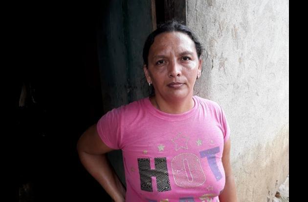Deisy de La Rosa Barrios, una de las afectadas.