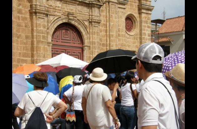 Rezo del Ángelus en Cartagena