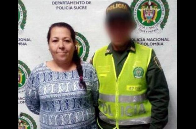 Flor Álvarez Parra, capturada por concierto para delinquir.