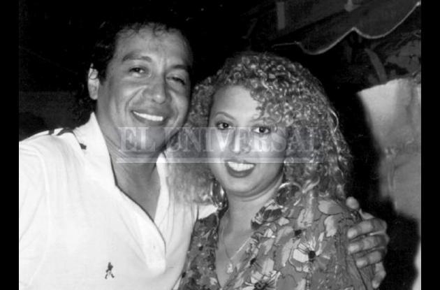 Diomedes Díaz junto a Patricia Teherán.
