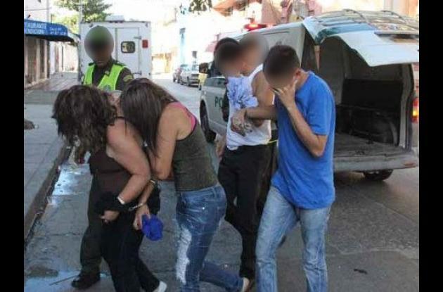 Cinco presuntos miembros de la banda los Rolos capturados por robos en centro de Cartagena.