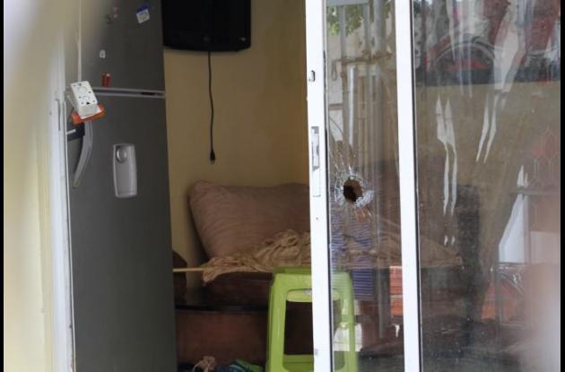 Casa de Luis Peterson en Plan 400, quien fue baleado.