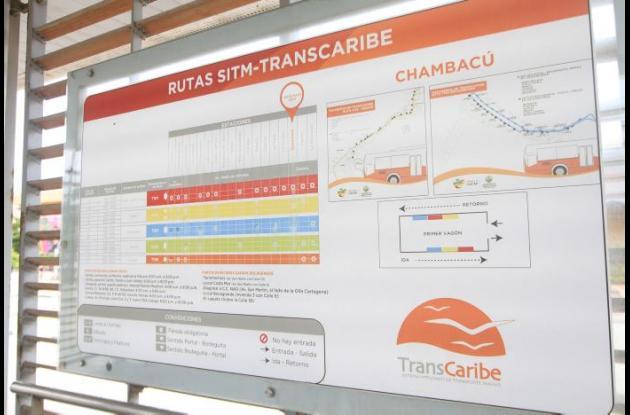 Señalización en Transcaribe