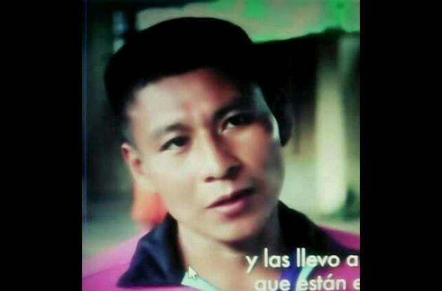 Aulio Isarama Forastero, líder indígena asesinado en Chocó.