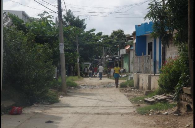 Sector 13 de Policarpa, donde acuchillaron de muerte a Aumerlis Julio Figueroa. Un amigo lo acuchilló por una discusión por $700.