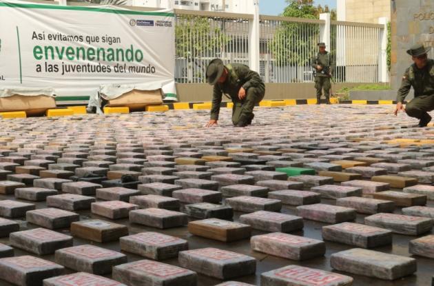Casi dos toneladas de droga incautada en puerto de Cartagena. Iba en pieles, en un contenedor.