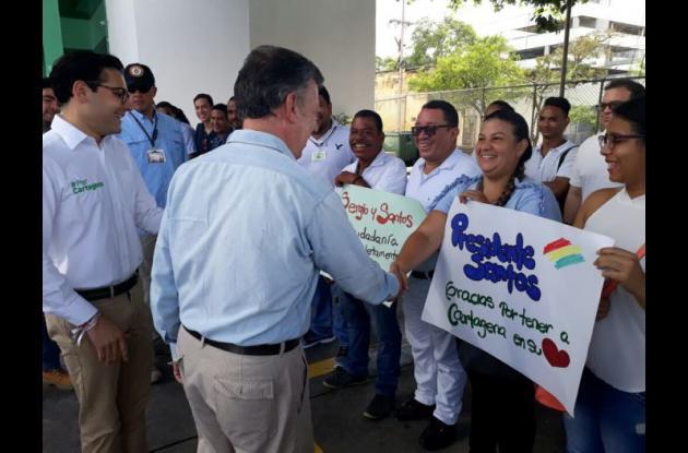 Juan Manuel Santos en Cartagena