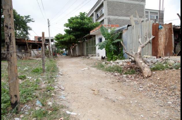 Sector 19 de Febrero de El Pozón, donde balearon de muerte en una riña de pandillas a John Freddy Marrugo Martínez, quien tenía 16 años.