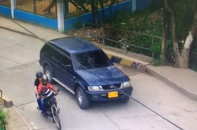 Camioneta en la que robaron $1.600 millones a un camión de valores de Prosegur en el sector La Castellana.