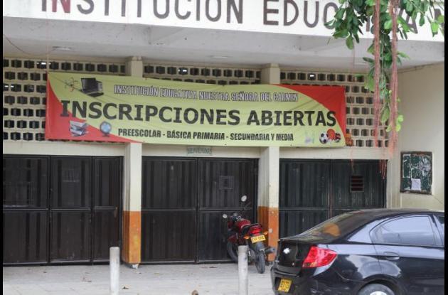 Matrículas en colegios públicos