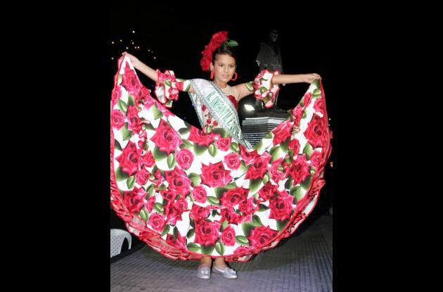María del Mar Durán Toro, reina Infantil de las Fiestas del 20 de Enero.