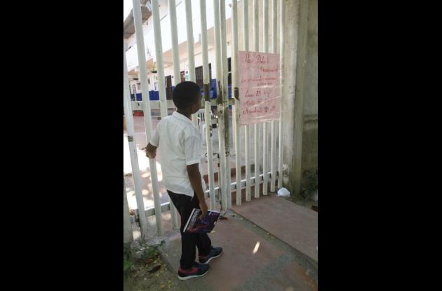 Colegios públicos cerrados