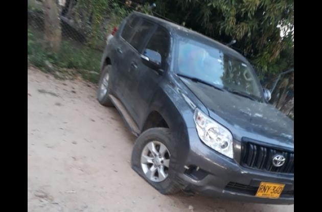 Carro del alcalde de Arenal del Sur se vio afectado por atentado del Eln.