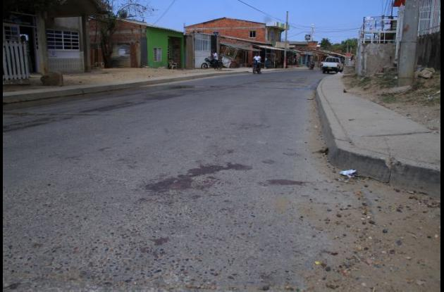 A John Rodríguez lo mataron cerca al turno de los buses en Pasacaballos. Recibió cinco balazos.