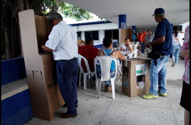 Mesas de votación en Cartagena